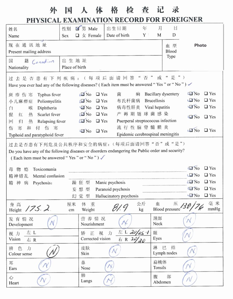 Physical Examination form for Work Awesome Physical Examination form Bing Images