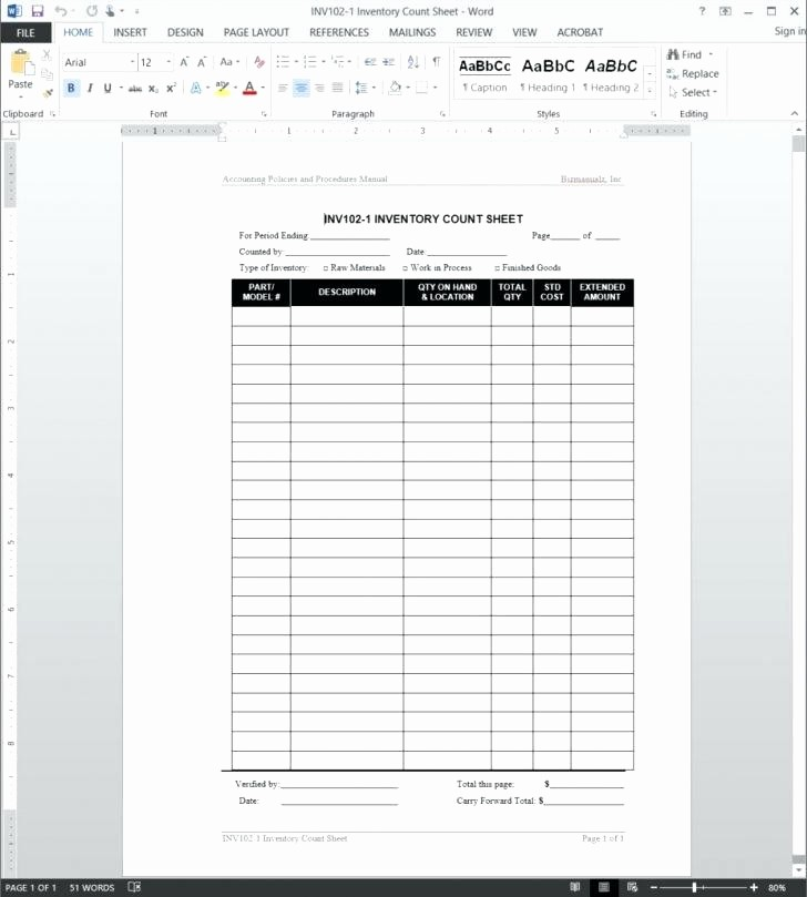 Physical Inventory Count Sheet Template Fresh Inventory Control Template Free Stock Spreadsheet Count