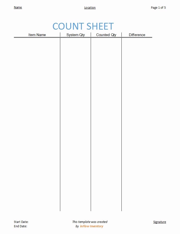 Physical Inventory Count Sheet Template Lovely How to Use A Count Sheet to Check Physical Inventory