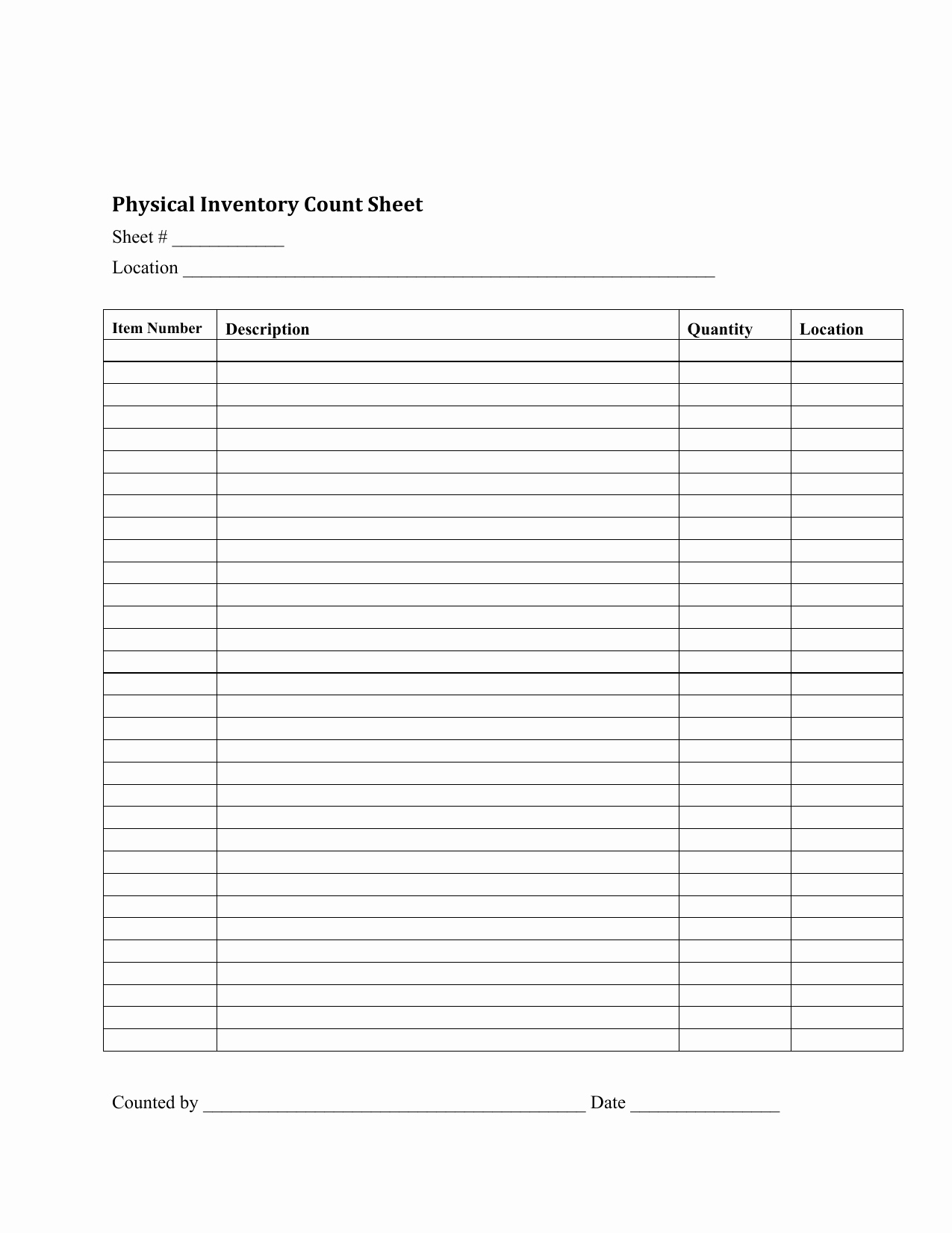 Physical Inventory Count Sheet Templates Unique Inventory Sheet Template Pdf 10 Easy Ways to Facilitate