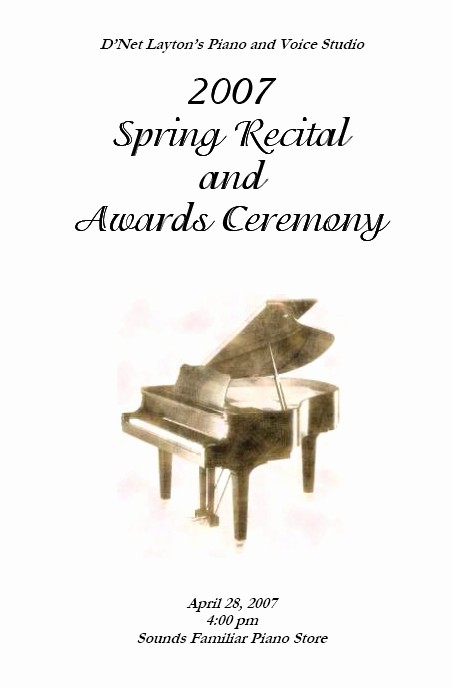 Piano Recital Program Template Free Awesome Recital Program Templates