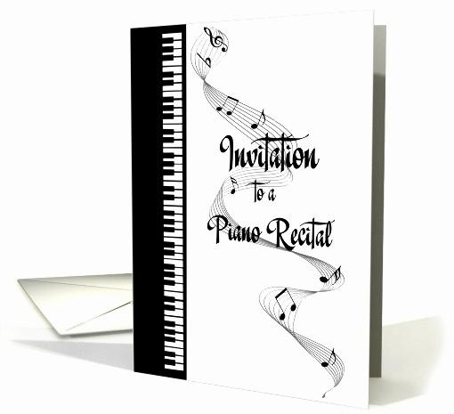 Piano Recital Program Template Free Beautiful Piano Recital Invitation Card