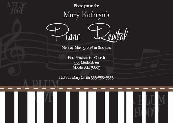 Piano Recital Program Template Free Best Of Piano Recital Invitation Personalized Diy 5x7 Printable
