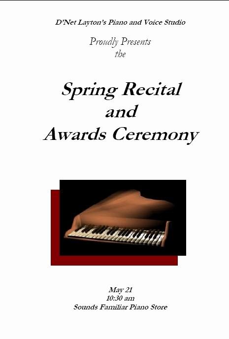 Piano Recital Program Template Free Best Of Recital Program Templates