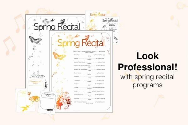 Piano Recital Program Template Free Elegant Free Recital Templates Look Sharp Posecreate
