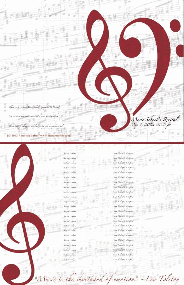 Piano Recital Program Template Free Fresh Free Editable Recital Program Templates