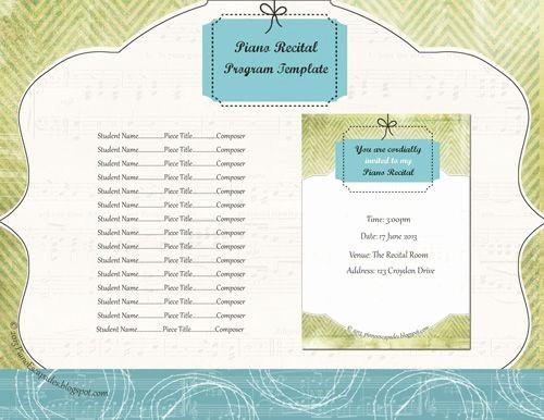 Piano Recital Program Template Free Fresh New Template for Recital Program I Love Lime Green for