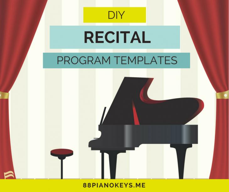 Piano Recital Program Template Free Inspirational Diy Recital Program Templates – 88 Piano Keys