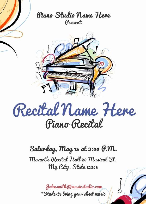 Piano Recital Program Template Free Unique 26 Best Piano Recital Invitations Images On Pinterest