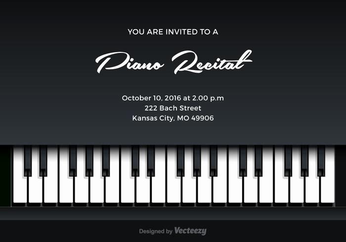 Piano Recital Program Template Free Unique Free Piano Recital Vector Invitation Download Free