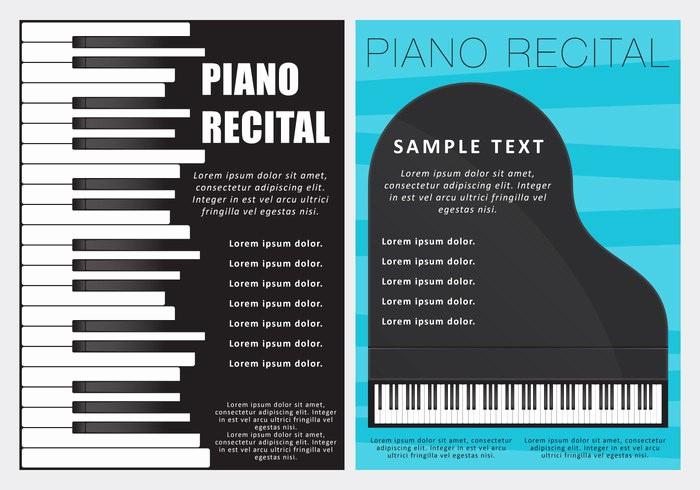 Piano Recital Program Template Free Unique Free Vector Piano Recital Flyers