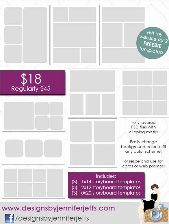 Picture Collage Template for Word Beautiful 82 Storyboard Templates Pdf Ppt Doc Psd