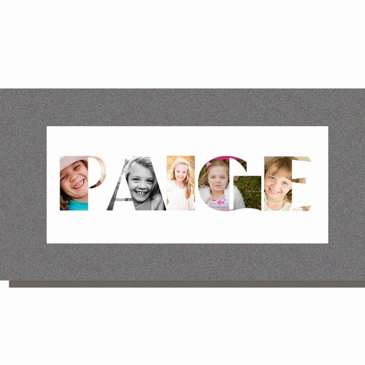 Picture Collage Template for Word Beautiful Editable Name Word Art Collage Shop Template Instant
