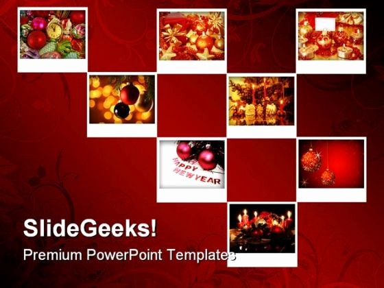 Picture Collage Template for Word Lovely New Year Collage Holidays Powerpoint Template 1010