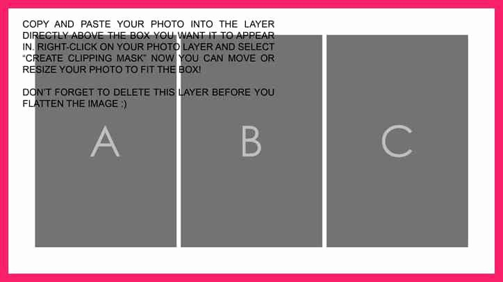 Picture Collage Template for Word New Photoshop Collage Template