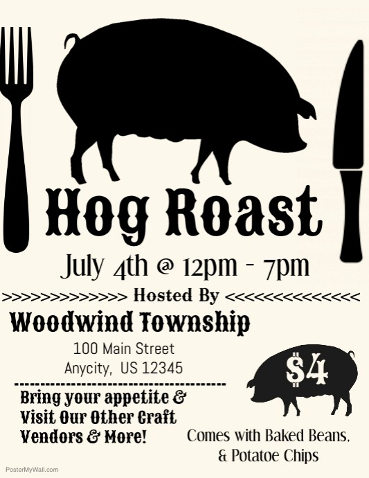 Pig Roast Invitation Template Free Awesome Hog Roast Template