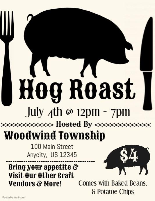 Pig Roast Invitation Template Free Awesome Hog Roast Template