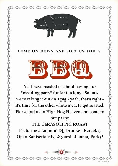 Pig Roast Invitation Template Free Awesome Pig Roast Flyer Template – Danielmelofo