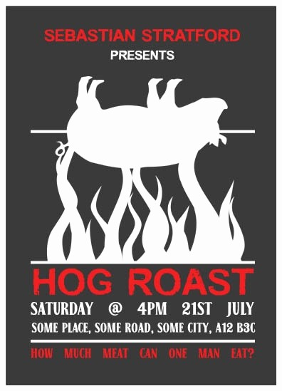 Pig Roast Invitation Template Free Awesome Pig Roast Flyer Template Templates Kinz Download Free