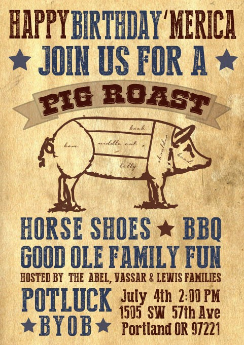 Pig Roast Invitation Template Free Awesome Pig Roast Invites