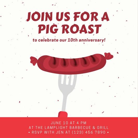 Pig Roast Invitation Template Free Beautiful Pig Roast Invitation Template – orderecigsjuicefo