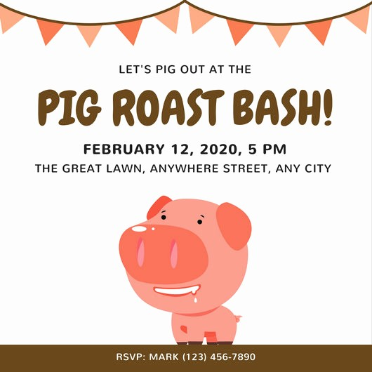 Pig Roast Invitation Template Free Beautiful Pig Roast Invitation Template – orderecigsjuicefo