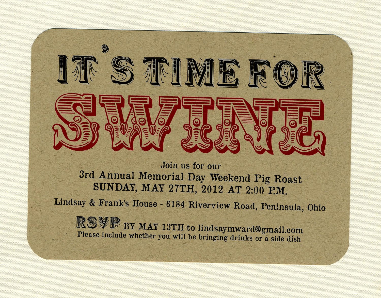 Pig Roast Invitation Template Free Best Of Bbq Invitations by Bbinvitations On Etsy