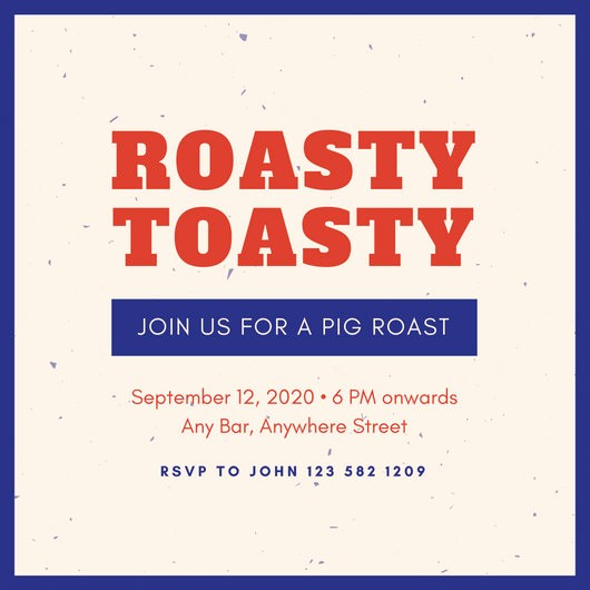 Pig Roast Invitation Template Free Best Of Customize 55 Pig Roast Invitation Templates Online Canva