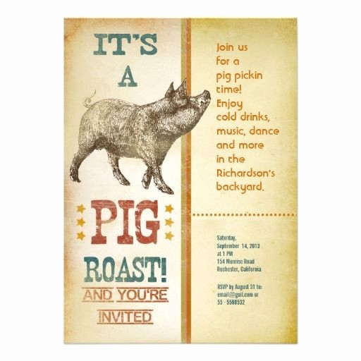 Pig Roast Invitation Template Free Best Of Invitations