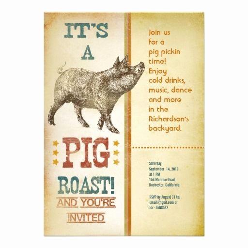 Pig Roast Invitation Template Free Best Of Invitations