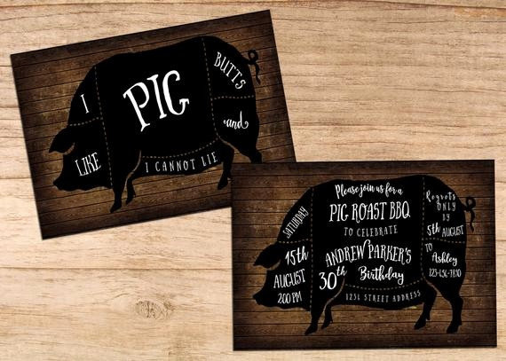 Pig Roast Invitation Template Free Best Of Items Similar to Bbq Birthday Party Invitations I Like