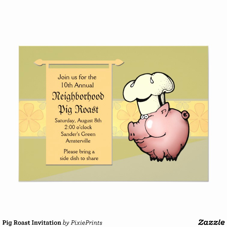 Pig Roast Invitation Template Free Best Of Pig Roast Invitation