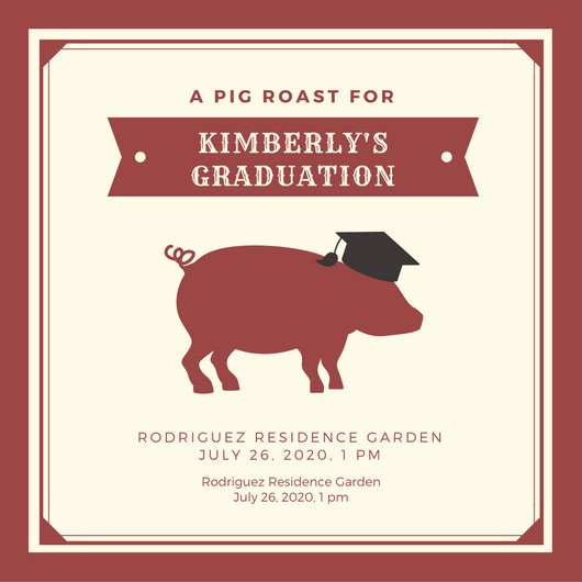 Pig Roast Invitation Template Free Elegant Customize 55 Pig Roast Invitation Templates Online Canva