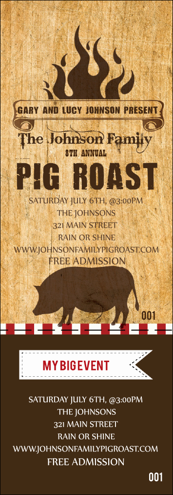 Pig Roast Invitation Template Free Elegant Pig Roast event Ticket