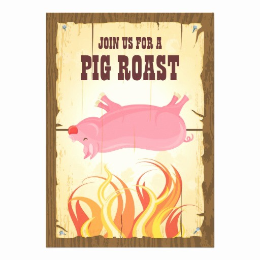 "Pig Roast Invitation Template Free Elegant Pig Roast Party Invitation 5"" X 7"" Invitation Card"