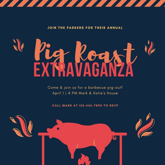 Pig Roast Invitation Template Free Fresh Pig Roast Invitation Template – orderecigsjuicefo