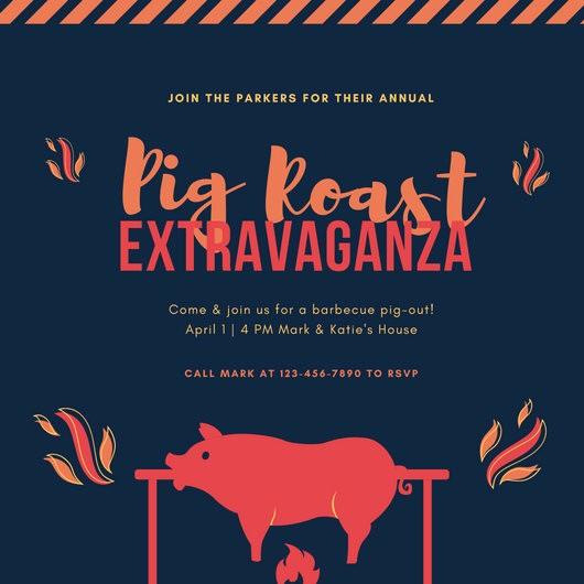 Pig Roast Invitation Template Free Fresh Pig Roast Invitation Template – orderecigsjuicefo