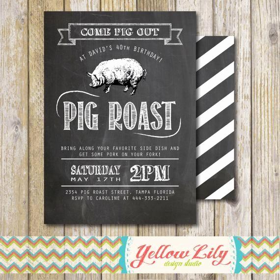 Pig Roast Invitation Template Free Fresh Pig Roast Invitations