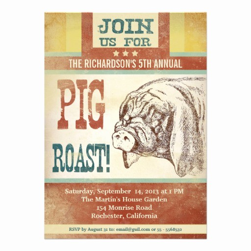 Pig Roast Invitation Template Free Lovely Pig Roast Barbecue Party Invitations