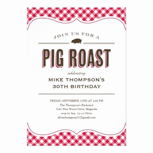 Pig Roast Invitation Template Free Luxury Pig Roast Table Cloth Invitations