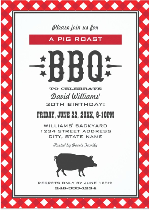 Pig Roast Invitation Template Free New 30 Barbeque Invitation Templates Psd Word Ai