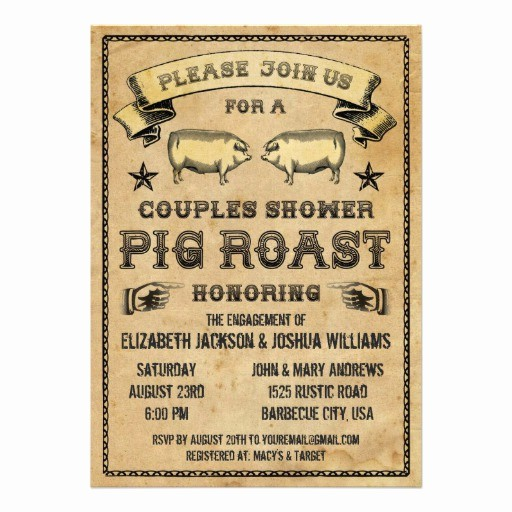 Pig Roast Invitation Template Free New Personalized Pig Roast Invitations