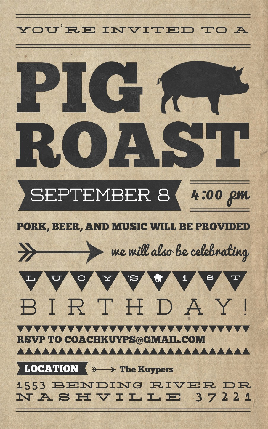 Pig Roast Invitation Template Free New Pig Roast Invitation Template Free