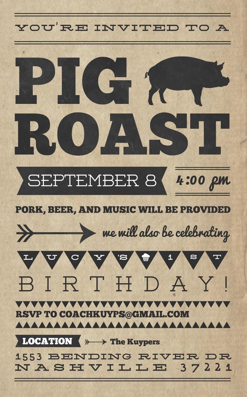 Pig Roast Invitation Template Free New Pig Roast Invitation Template Free