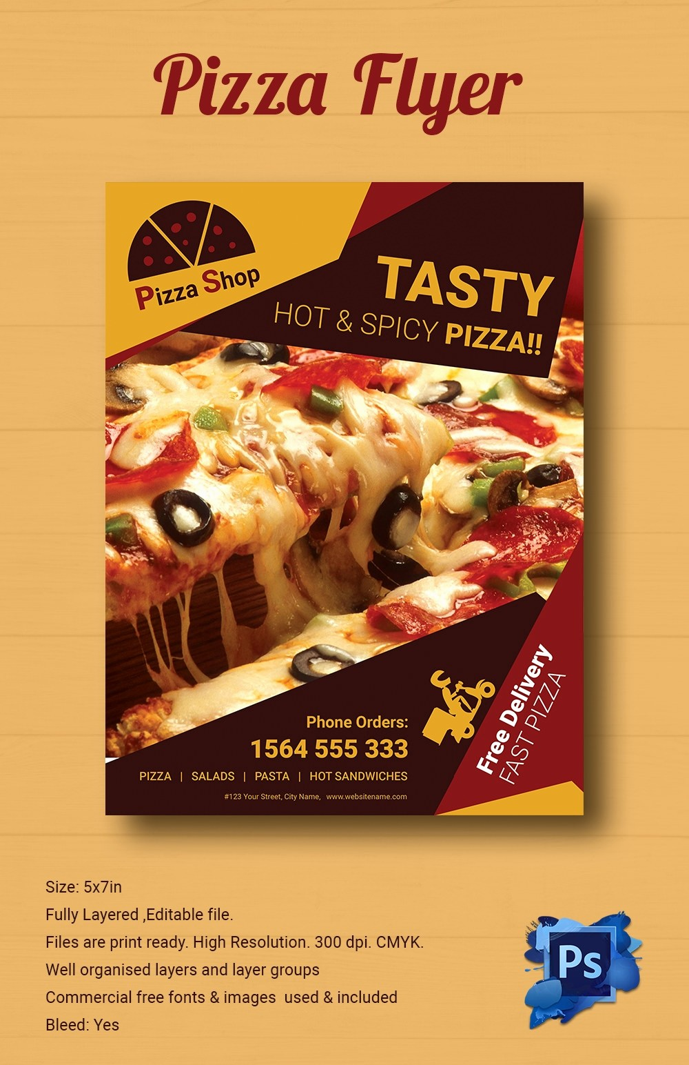 Pizza Party Flyer Template Free Best Of 39 Pizza Flyers Psd Ai Vector Eps format Download