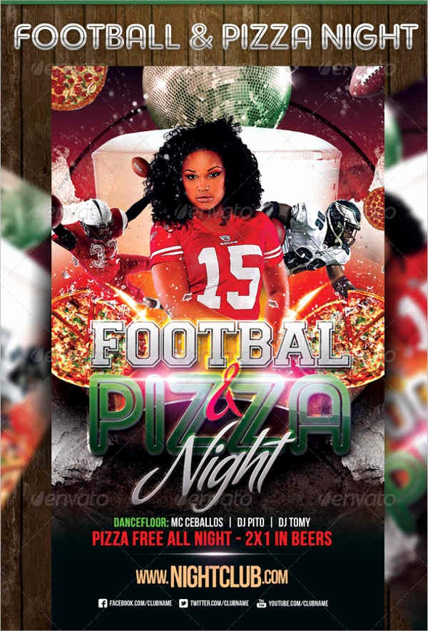Pizza Party Flyer Template Free Best Of 6 Pizza Party Flyers Design Templates