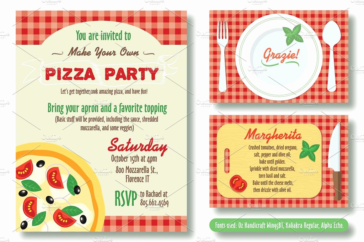 Pizza Party Flyer Template Free Best Of Editable Pizza Party Invitation Invitation Templates