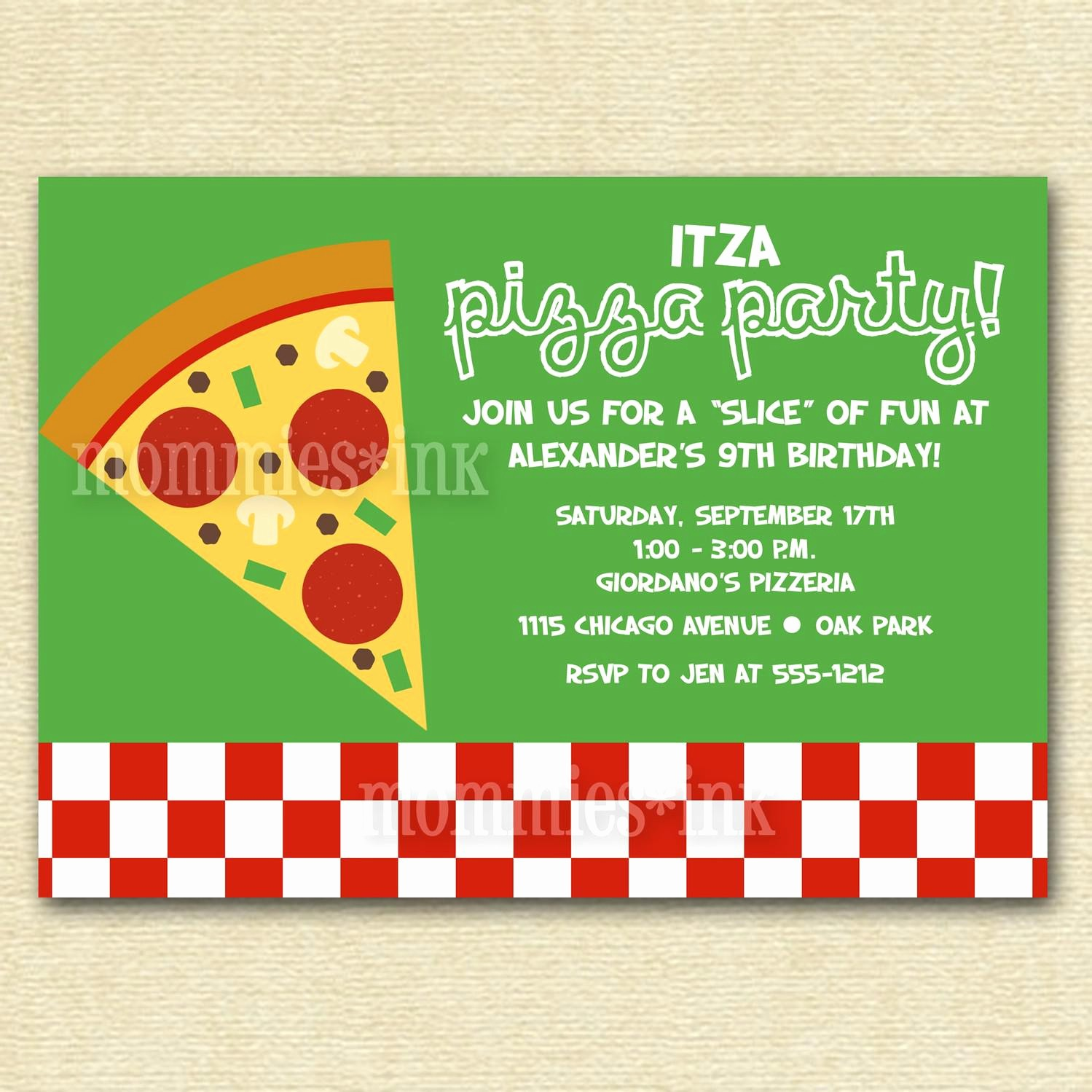 Pizza Party Flyer Template Free Best Of Pizza Party Invitations