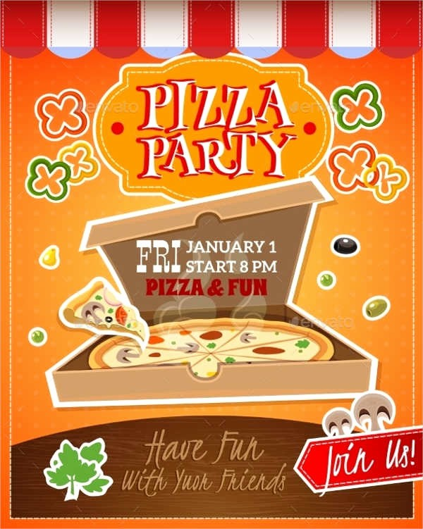 Pizza Party Flyer Template Free Elegant 6 Pizza Party Flyers Design Templates