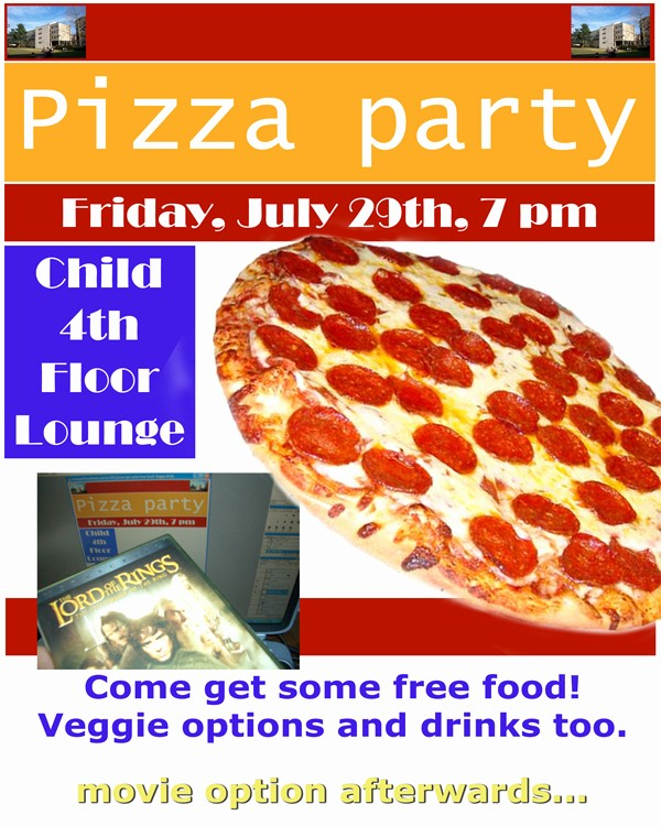 Pizza Party Flyer Template Free Elegant 9 Best Of Free Printable Pizza Party Flyers Free